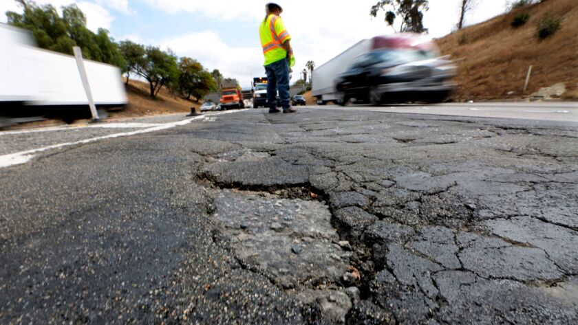 LOS ANGELES, CA, JUNE 5, 2015: Caltrans Maintenance Supervisor Howard Mead stands near the junction