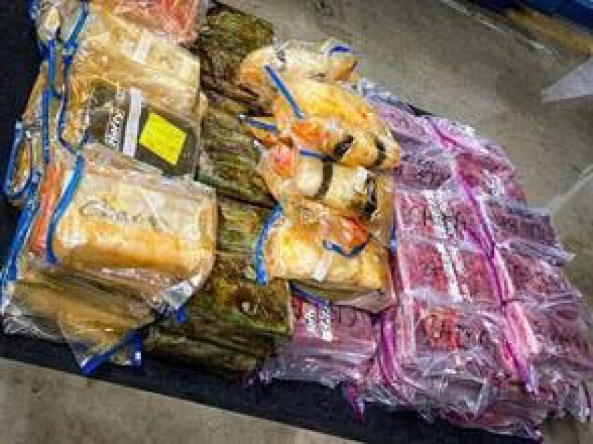 About $3.5 million in drugs confiscated by the Huntington Beach Police Department.