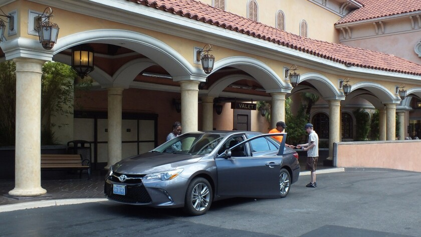 The only money changing hands at Treasure Island's valet service is for tips. The independently owne