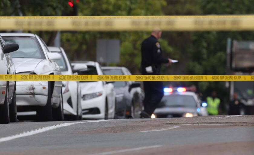 San Diego police are investigating a fatal shooting near a College Area apartment complex early Thursday that left a man dead.