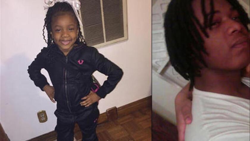 Zariah Muhammad de 6 años y su tío David McCray fueron baleados el jueves. McCray fallecio. (FOTO FAMILIAR)