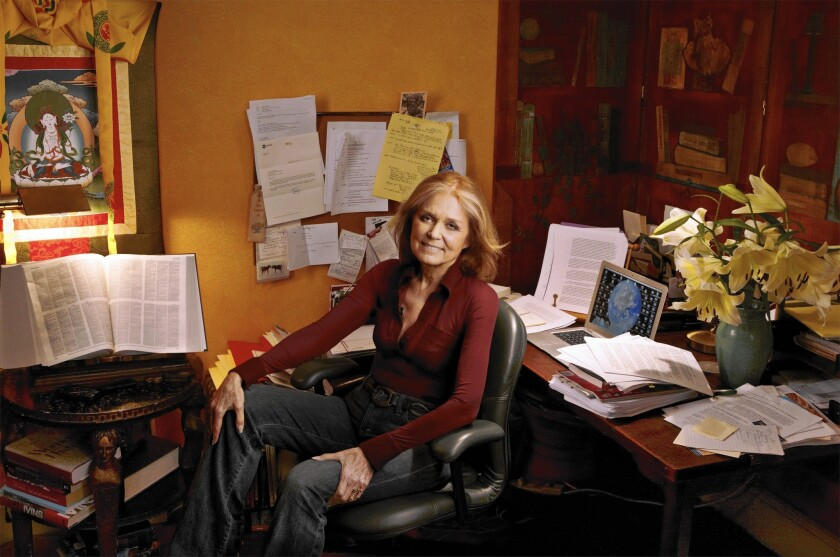 Gloria Steinem at home in New York City, 2010.