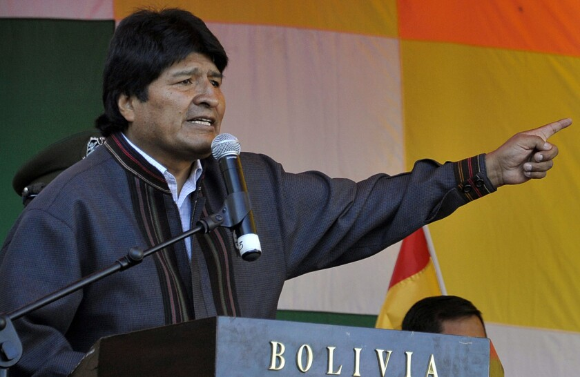 Bolivia, angered by Kerry, says it is ejecting U.S. aid agency