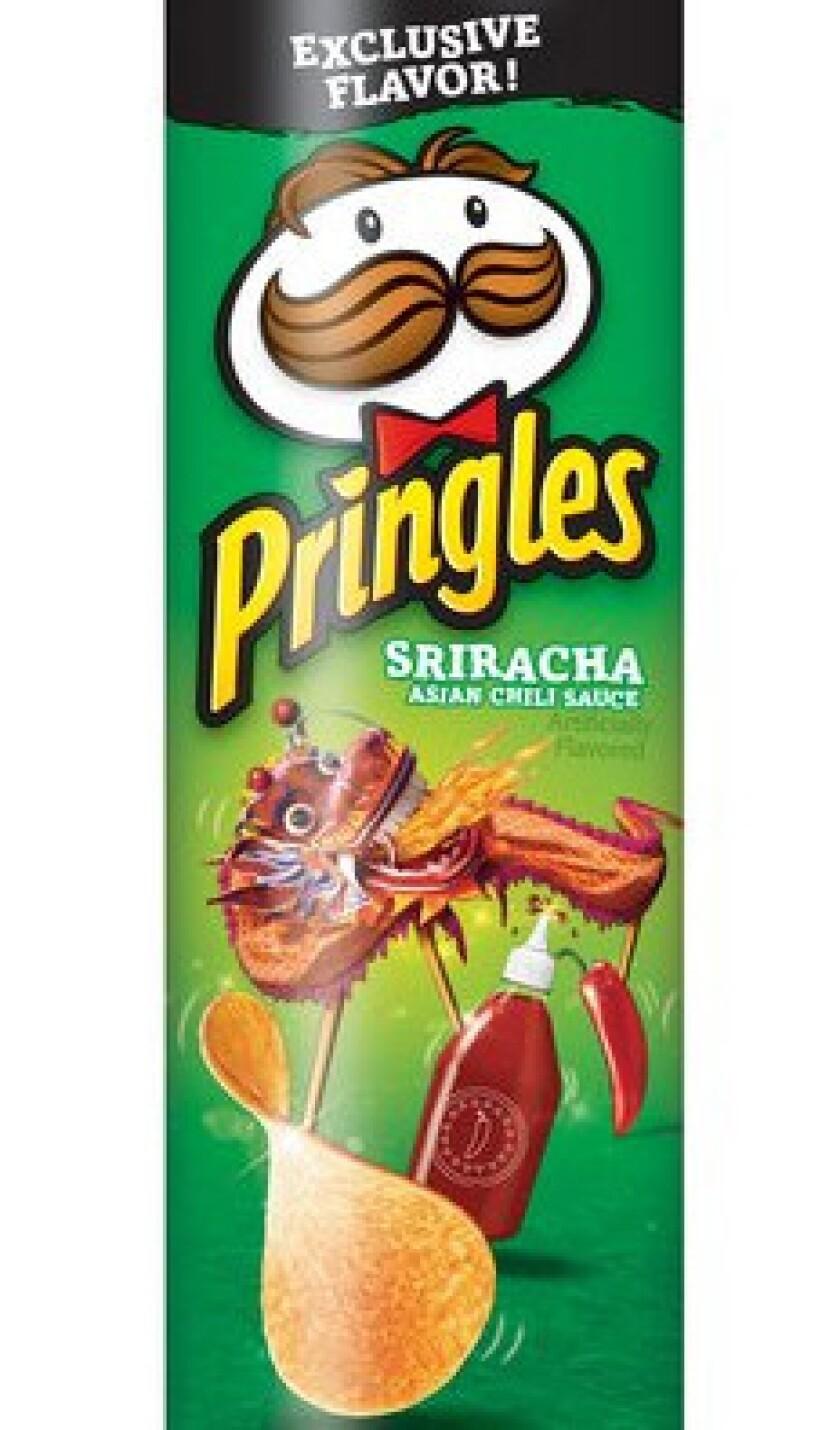 Sriracha Pringles at Walmart.