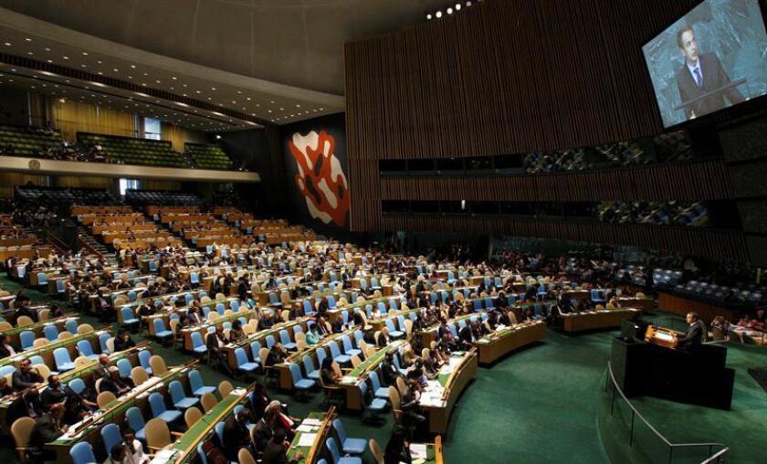 La Asamblea General de la ONU rindió hoy tributo al fallecido expresidente y líder de la Revolución cubana, Fidel Castro. EFE/ARCHIVO