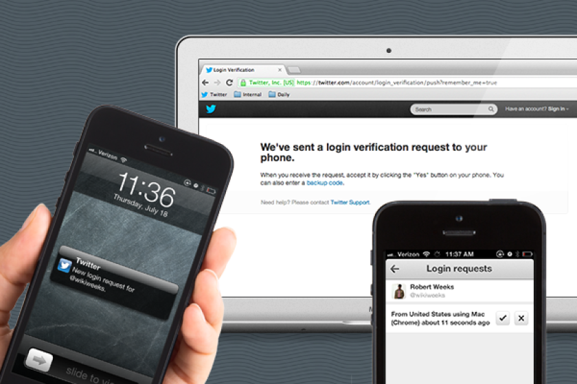 Twitter's new security feature promises to make the process of two-step authentication as simple as a swipe and a tap.
