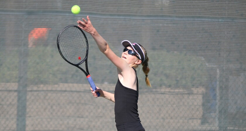 CCA freshman Lillia Finnegan teamed with Emily Fowler to sweep three doubles matches.