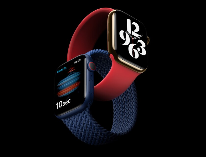 The Apple Watch Series 6, shown, is the one to beat, but don't overlook wearables from Samsung, Fossil and others.
