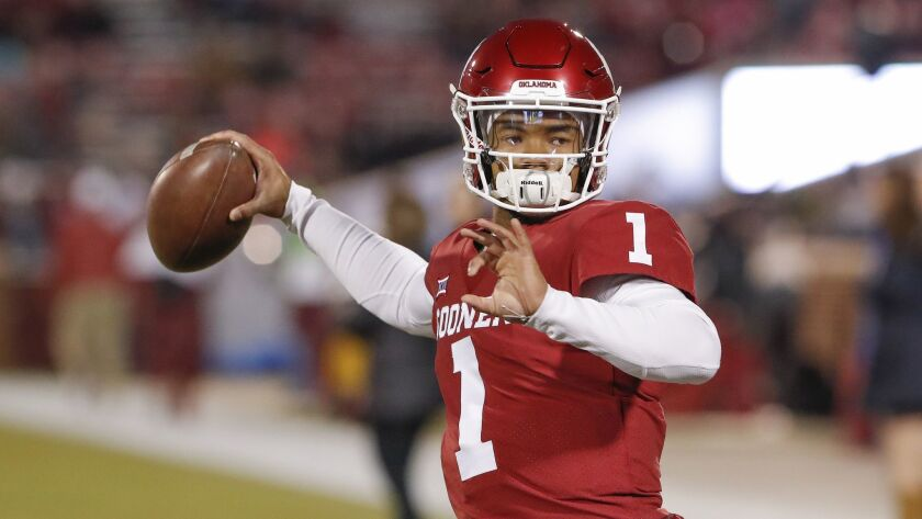 Kyler Murray became the second consecutive Oklahoma quarterback to win the Heisman Trophy.
