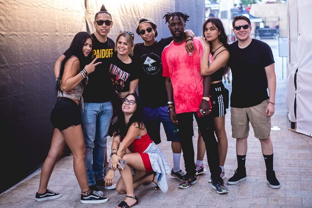 "From adidas Skateboarding and Journeys, Destination San Diego, billed as ""an immersive music experience inspired by action sports,"" brought together live musical performances from Jay Rock, Famous Dex, Cozy Boyz and Na-kel Smith, art exhibitions, beer gardens, custom merchandise and more at Horton Plaza Park on Saturday, Aug. 11, 2018."