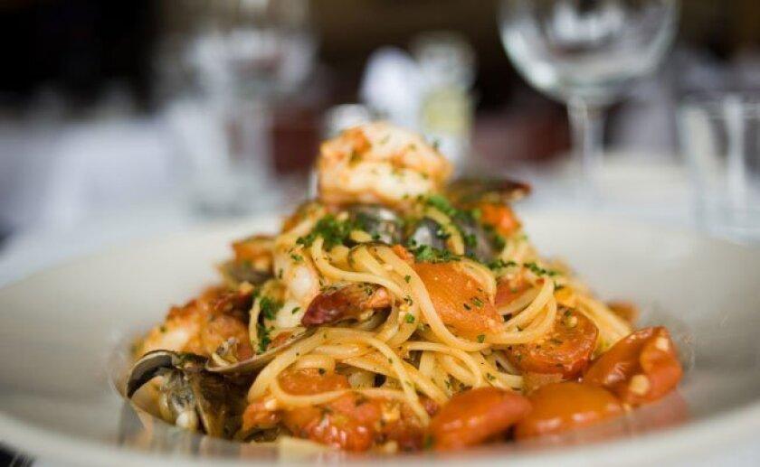 So tasty: The Linguine all' Arlecchino at Mia Francesca in Carmel Valley.