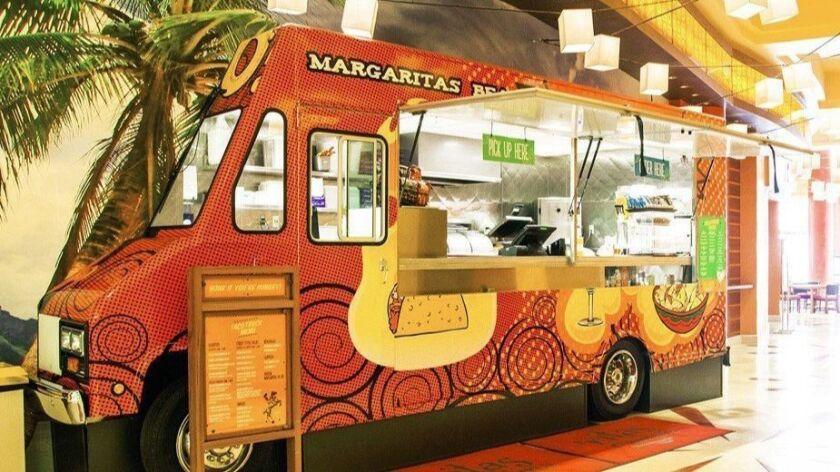 'Ritas Cantina operates an actual taco truck right off the Harrah's SoCal hotel lobby. Courtesy