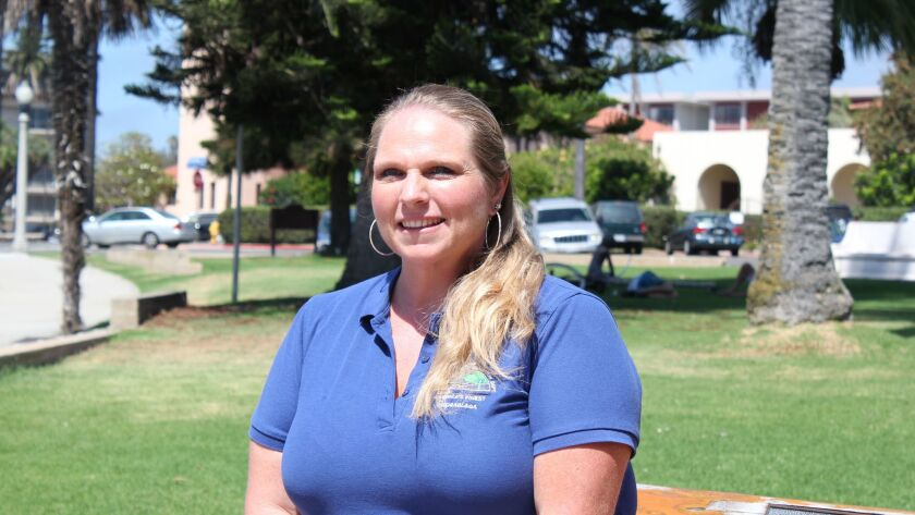 San Diego native Nicole Otjens (38), has lived in Clairemont her entire life.