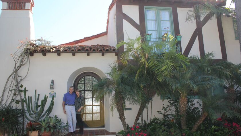 Barry Bielinski and Seonaid McArthur at their Spanish Revival home, 391 Via del Norte