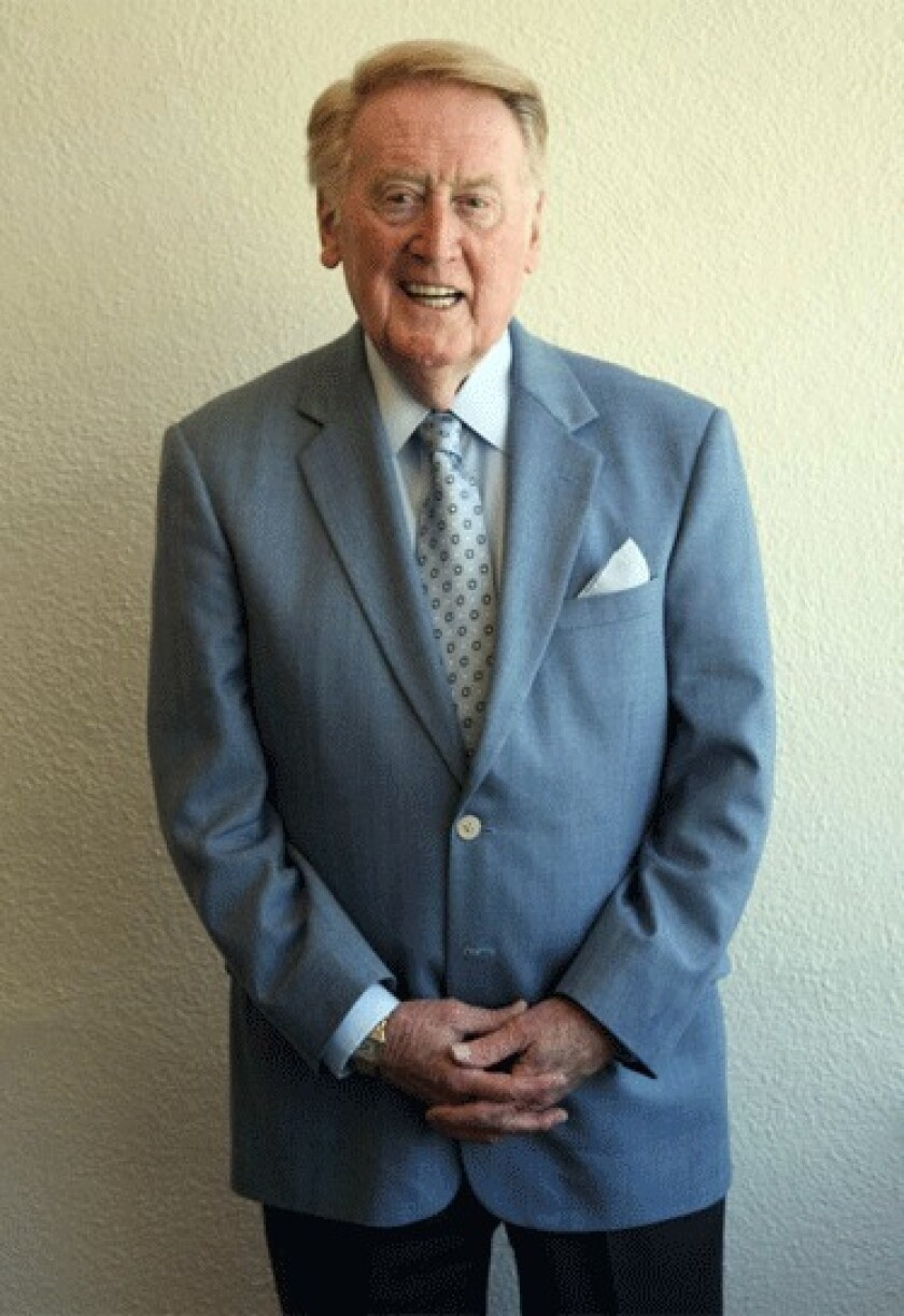 Vin Scully has been calling Dodger games since Harry Truman was president and the Dodgers were suiting up in Brooklyn