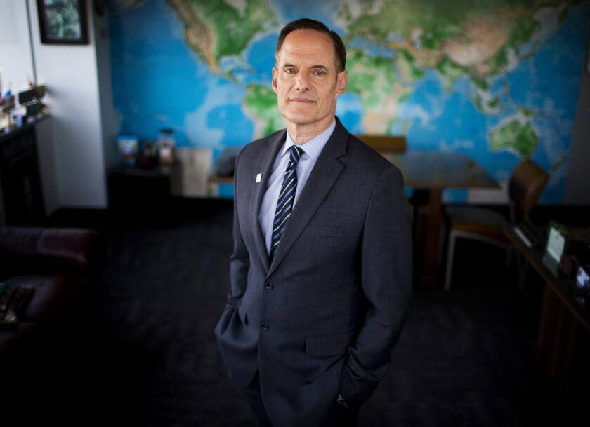 Michael Weinstein, Founder, CEO and President of the AIDS Healthcare Foundation in his office in Hollywood.