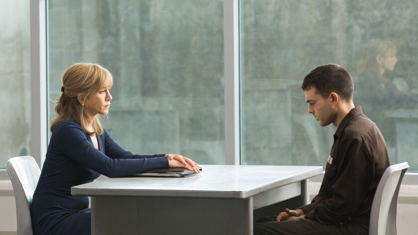 """Jennifer Aniston and Alden Ehrenreich in the movie """"The Yellow Birds."""""""