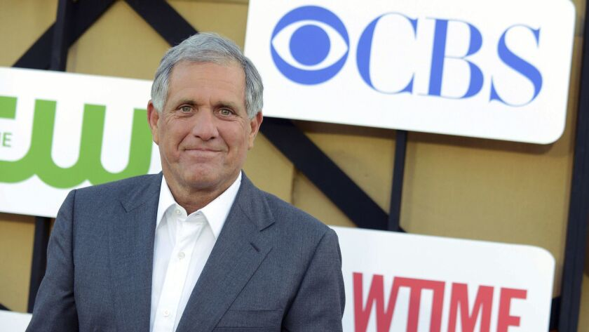 A shareholder lawsuit contends that alleged misconduct by CBS Chief Executive Leslie Moonves has hurt investors. Moonves is shown in 2013.