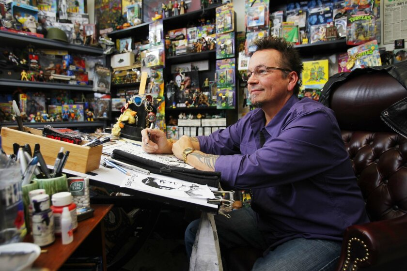 Kevin Eastman has recreated his studio at the San Diego Comic Art Gallery at NTC at Liberty Station