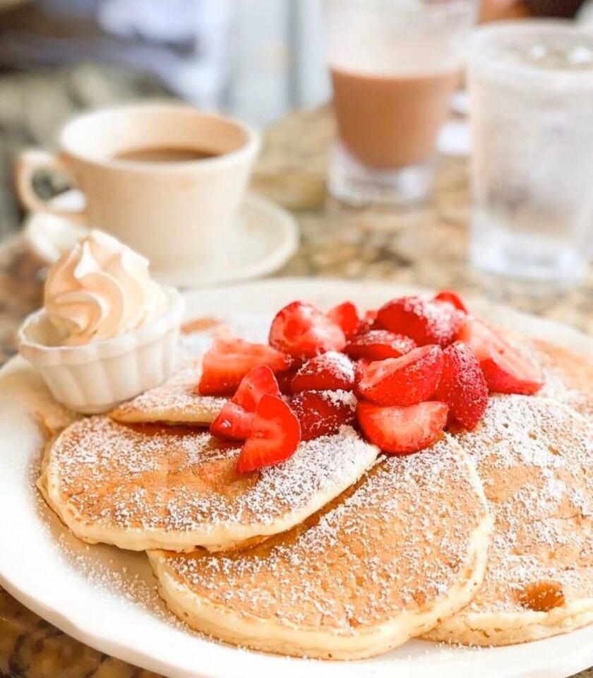 Pancakes served up at Richard Walker's