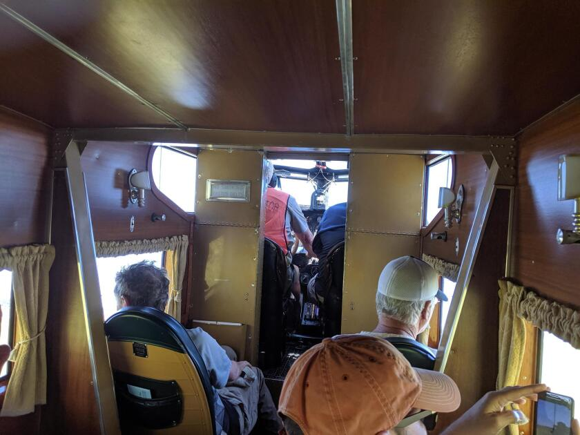 Olof and friends ride the Ford Tri-Motor airplane in Oshkosh.