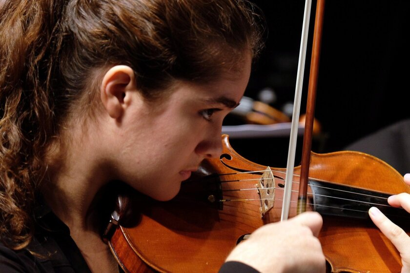 Sofia Hashemi-Asasi, 17, is the concertmistress for the San Diego Youth Symphony and Conservatory's Chamber Orchestra this year.
