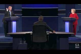 Donald Trump and Hillary Clinton trade insults at debate