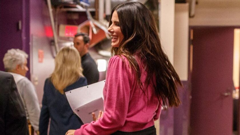Sandra Bullock backstage during rehearsals for the 90th Oscars at The Dolby Theatre on March 3, 2018 in Hollywood, California.