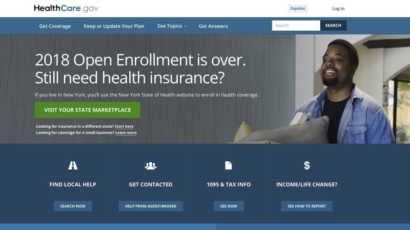 The website for HealthCare.gov on Friday, July 6, 2018, in Washington. A congressional watchdog says