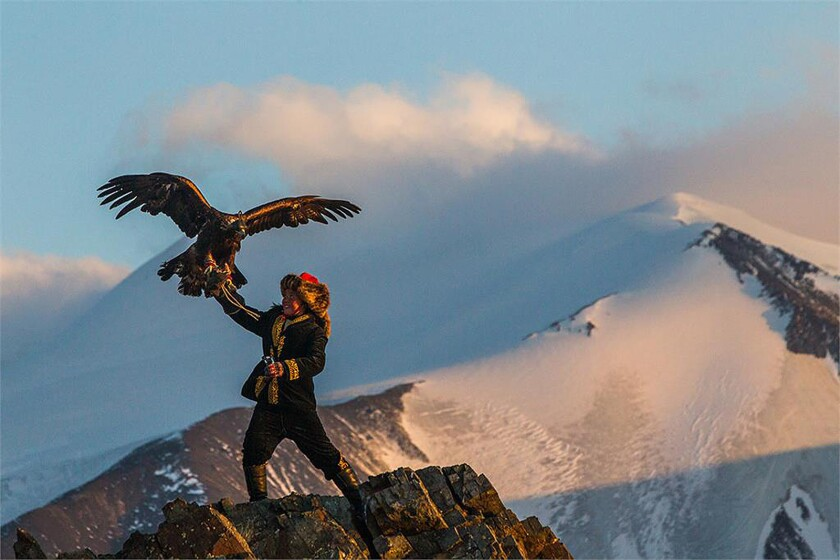 """In """"The Eagle Huntress,"""" Aisholpan, a 13-year-old girl from Mongolia, bucks 2,000 years of tradition to become the first female to hunt with formidable golden eagles in her homeland."""