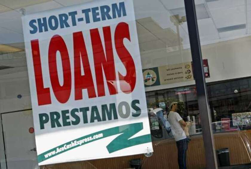 A payday lending shop in Van Nuys.