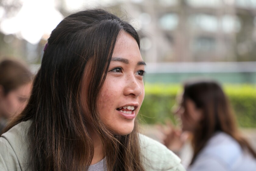 Krystine Bernas, a UCSD student that will be a university campus coordinator for Camp Kesem this summer, speaks about the event (during interview).