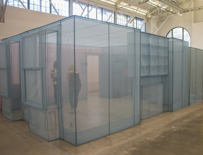 Looking into Do Ho Suh's translucent 'New York Apartment,' now on view at MCASD downtown.