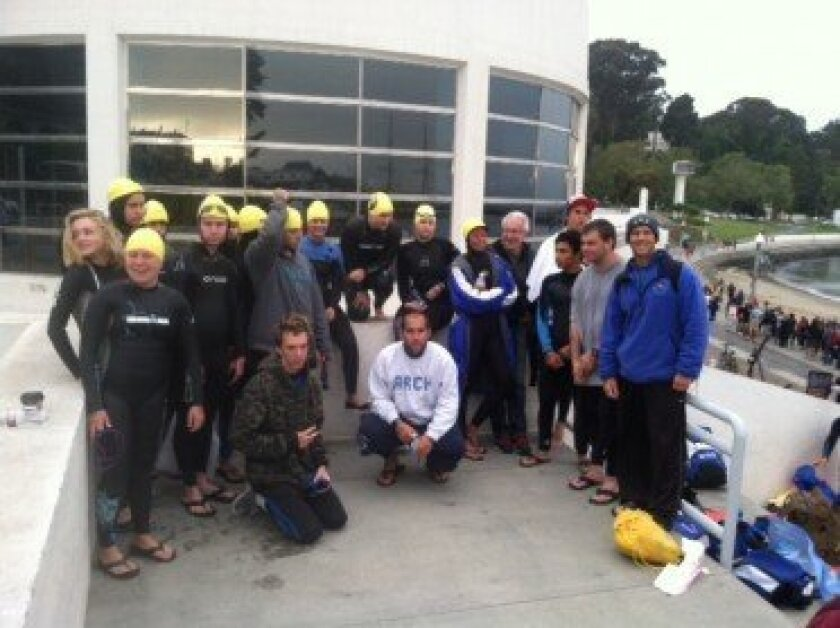 Local Arch Academy students from Carmel Valley and Rancho Santa Fe traveled to San Francisco on June 7 to participate in the annual Alcatraz Sharkfest. Courtesy