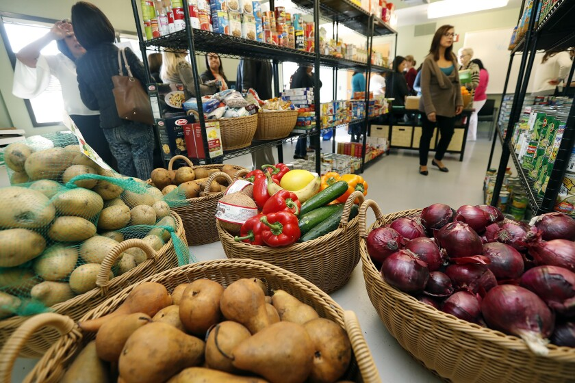 Pirates' Cove, a food pantry with more fresh options, at Orange Coast College offers students health food.