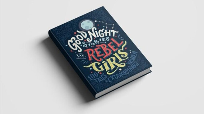 Mockup of the book 'Good Night Stories for Rebel Girls.'