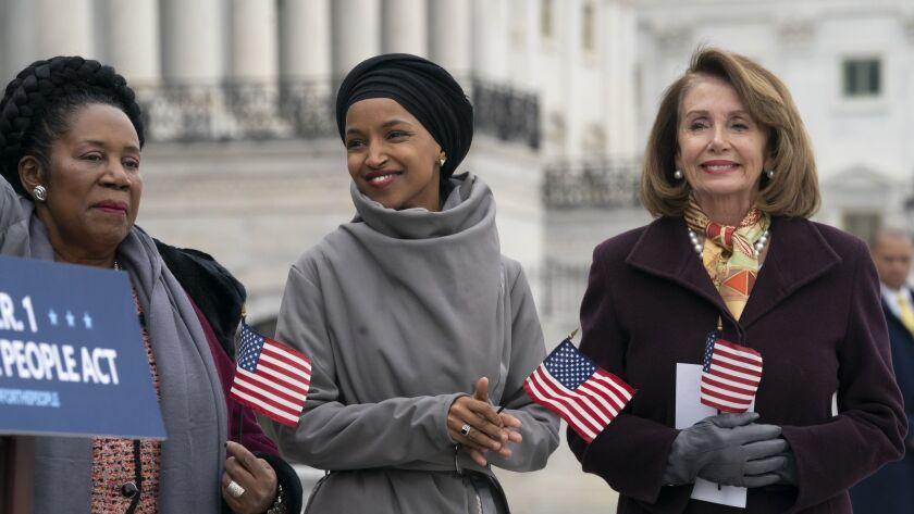 Nancy Pelosi, Ilhan Omar, Sheila Jackson Lee