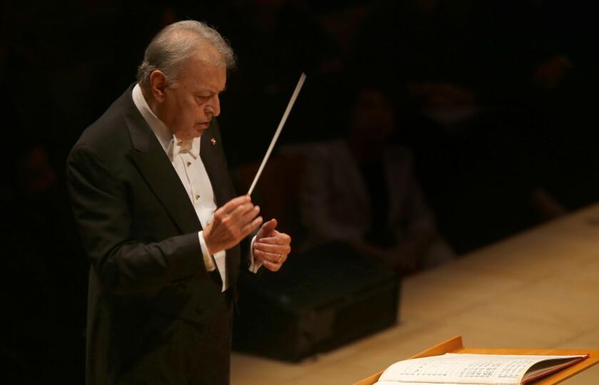 """Zubin Mehta got personal with his L.A. Phil take on Strauss' """"Ein Heldenleben,"""" a musical hero's journey of sorts, Jan. 13 at Disney Hall."""