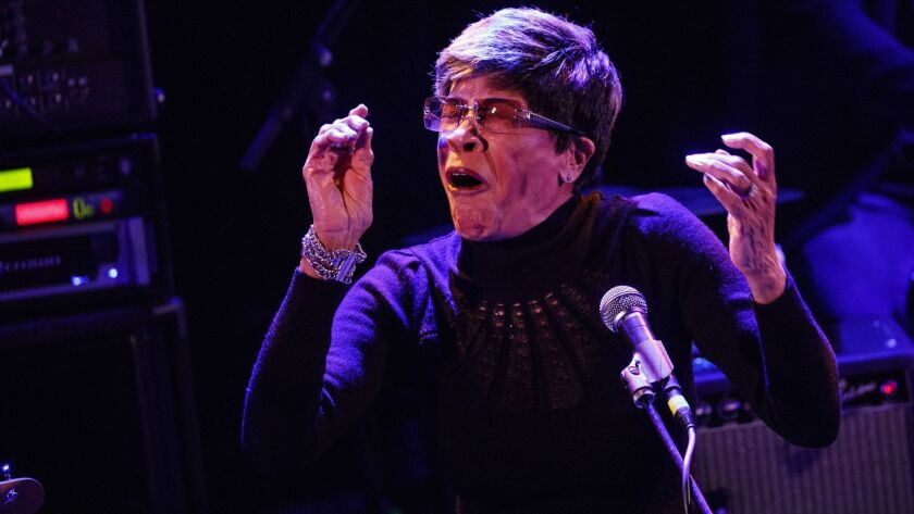 Bettye Lavette performs during a tribute to John Prine at The Troubadour on Saturday, February 9, 20