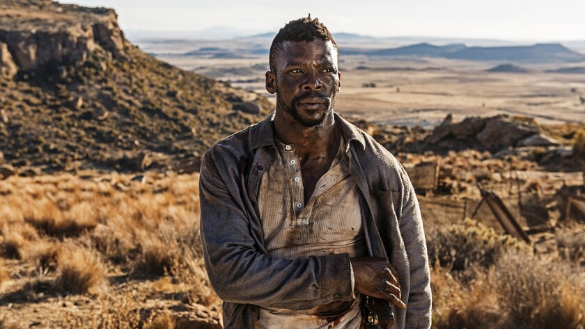 """Vuyo Dabula in the film """"Five Fingers for Marseilles."""""""