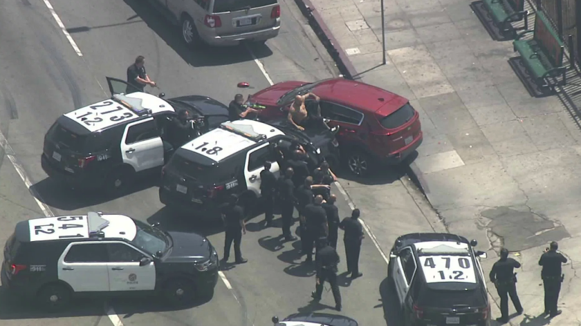 Police end car chase after hitting vehicle and spinning it