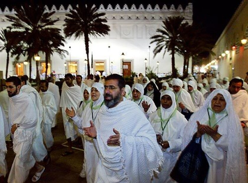 Pilgrims declare their intent to perform the hajj