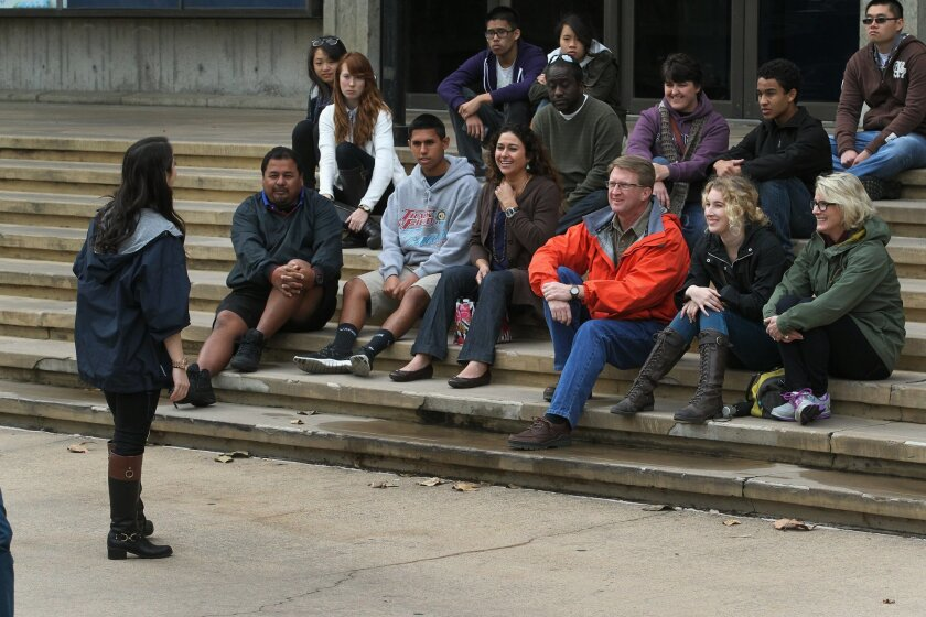 A record number of students have applied to UC San Diego for the fall semester. On Friday, a group of prospective students took a campus tour.