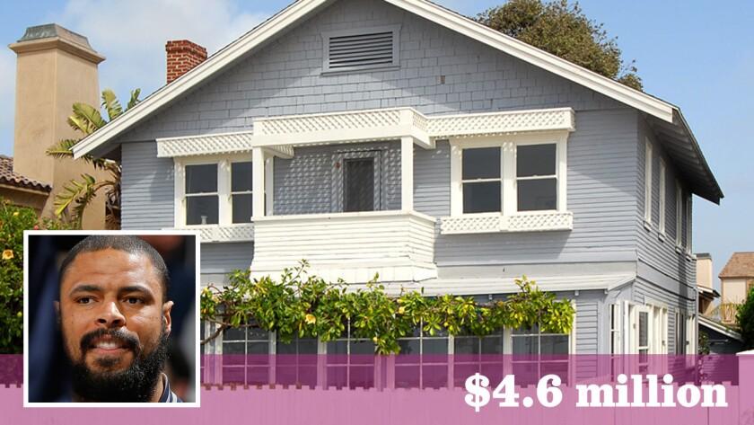 The Dallas Mavericks center paid $4.6 million for the beachfront home in Newport Beach.