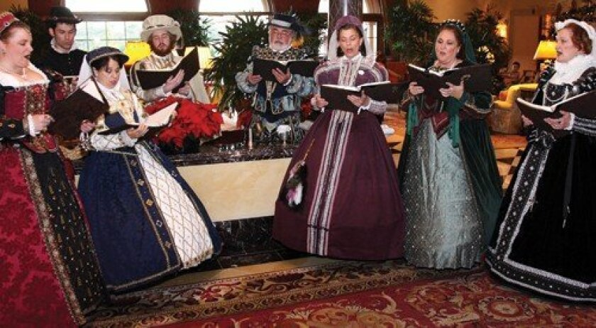 The Holiday Choir entertains guest at the Grand Del Mar. Photo: Jon Clark