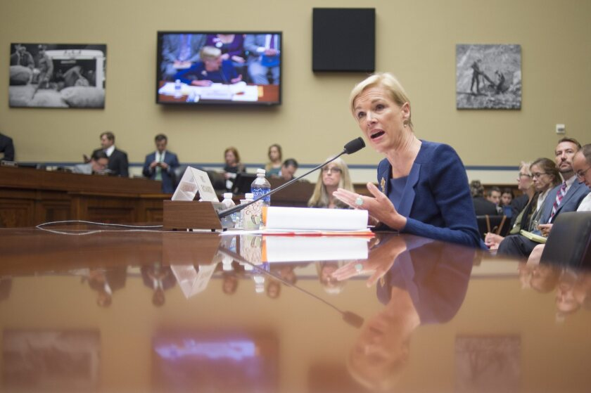 Cecile Richards, president of Planned Parenthood Federation of America Inc., testifies before the House Oversight and Government Reform Committee on Sept. 29.