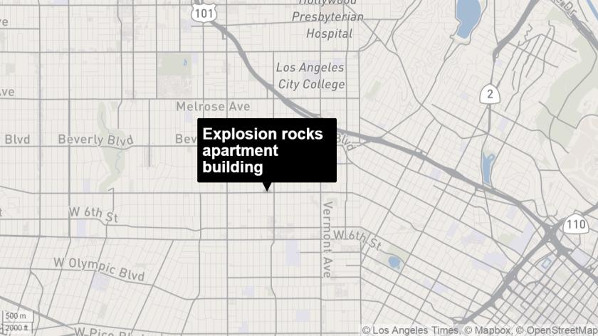 Explosion rocks building