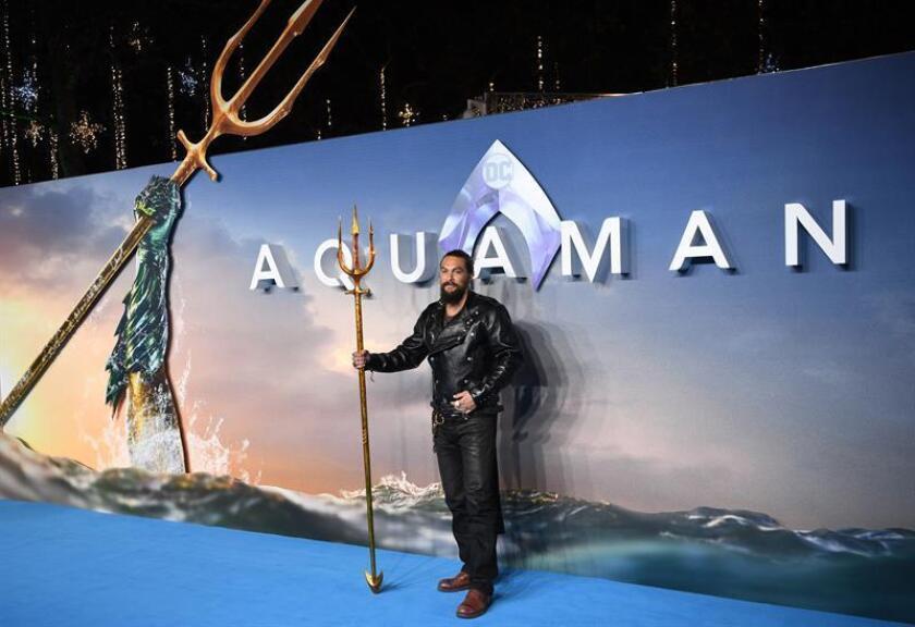 Fotografía del actor estadounidense Jason Momoa durante la presentación mundial de la película ''Aquaman'', en Londres (Reino Unido). EFE/Archivo