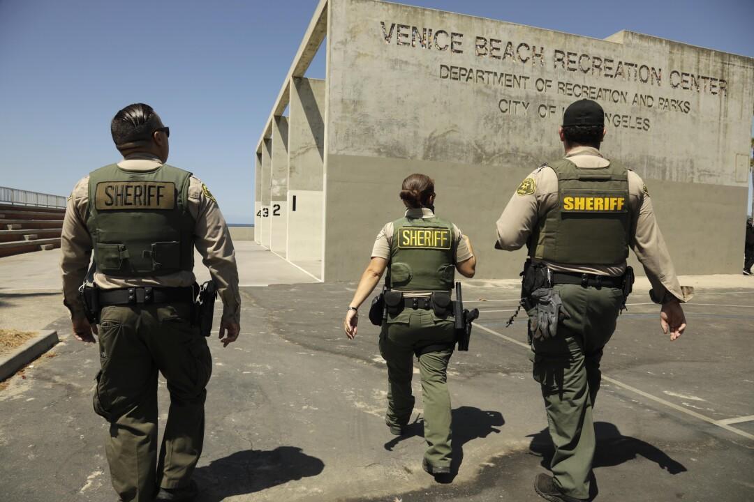 A trio of sheriff's deputies in Venice.