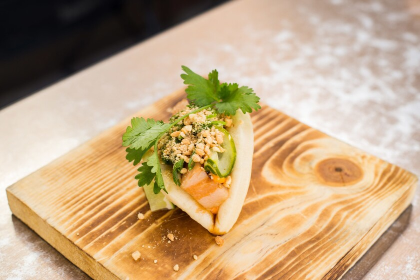 Tenderbelly Farms pork belly buns from Kettner Exchange. (Courtesy photo)